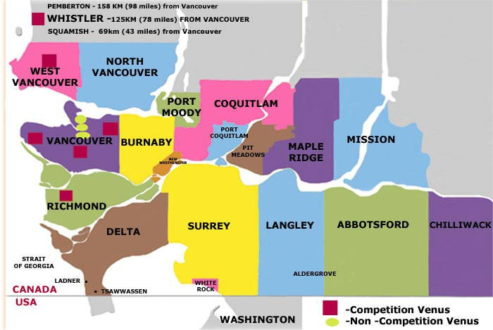 Map Of Vancouver City. Rooms for 2010 Vancouver