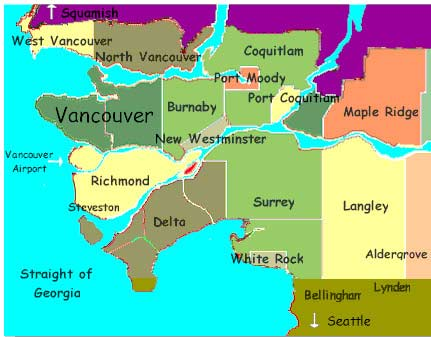 Vancouver Bc Canada Map.Holiday Home Exchange Vacation Rentals House Swap