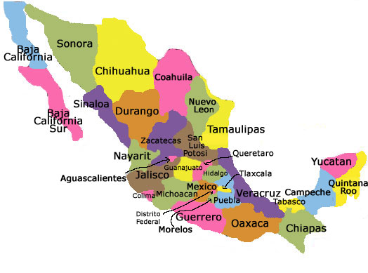 Home Exchange in Mexico – Map Northern Mexico