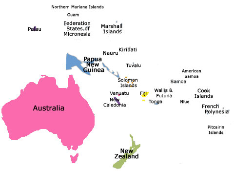 Home Exchange In Pacific - Where is samoa